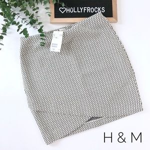 NWT ∙ H&M X-Small Textured Wrap Mini Skirt